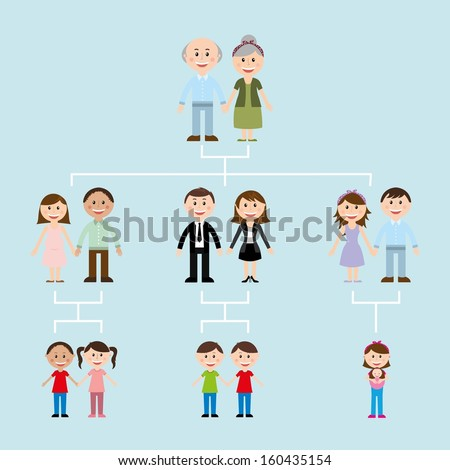 family design over blue