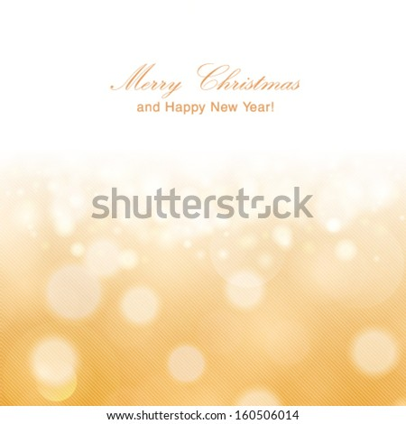vector glittery gold christmas