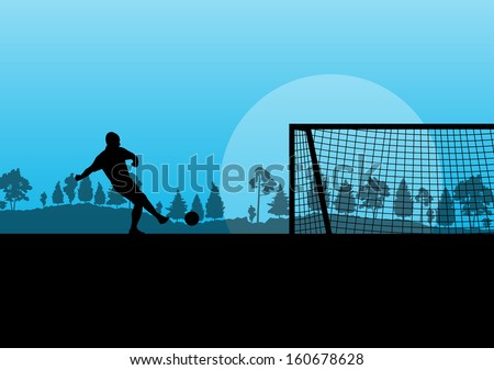 soccer player vector background
