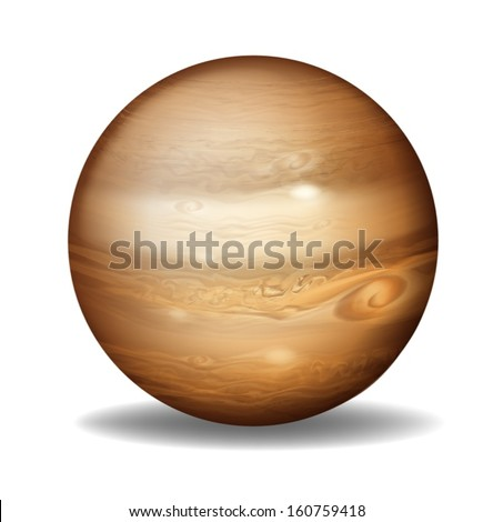 illustration of planet jupiter