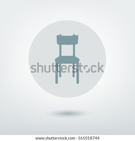 modern stylized icon chair
