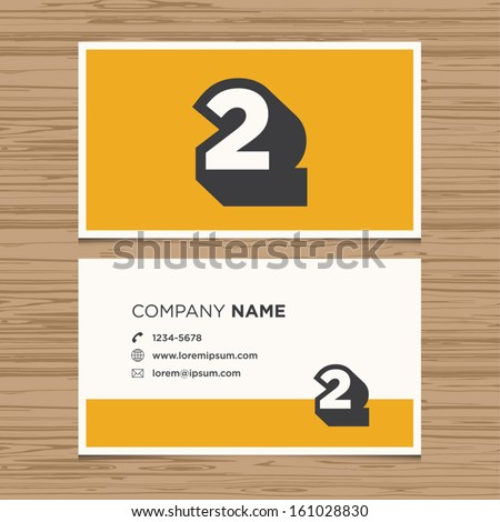 business card with number 2