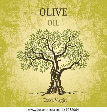 olive tree on vintage paper