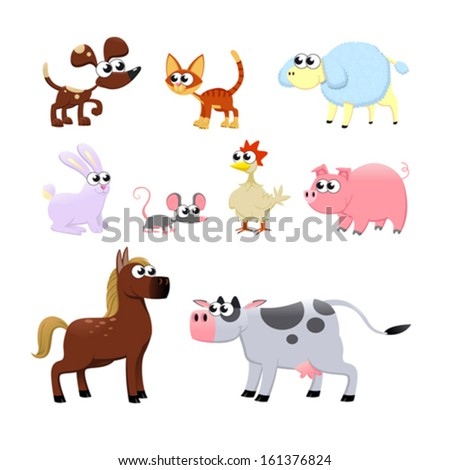 farm animals funny cartoon and