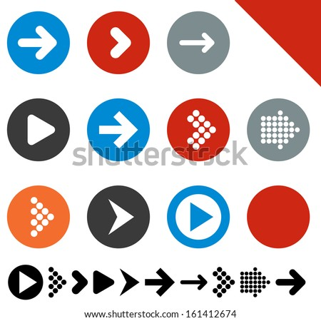 stock-vector-vector-illustration-of-plain-round-arrow-icons-eps
