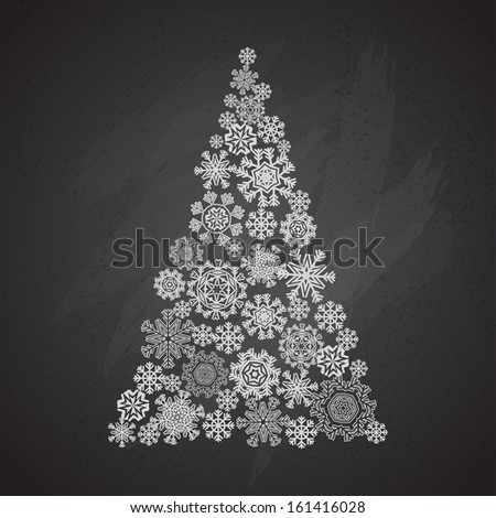 greeting xmas card on