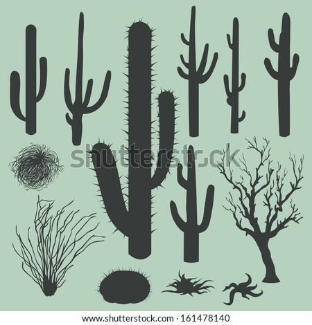 vector set of silhouettes of