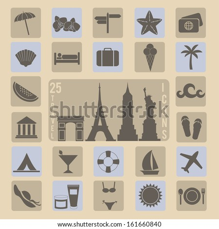 collection of 25 travel icons