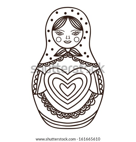 matrioshka  sketch  vector