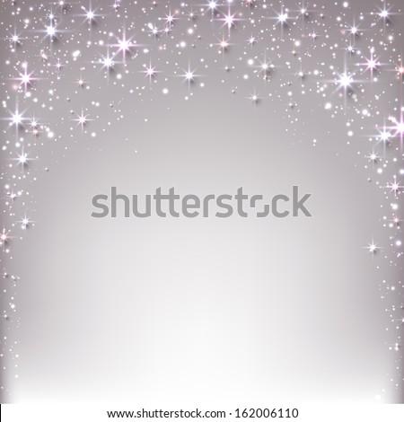 silver christmas abstract