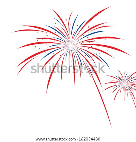 firework design on white