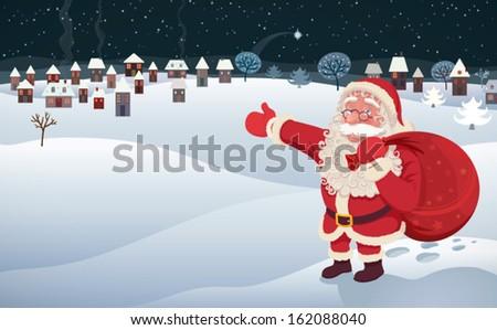 santa claus arrival an