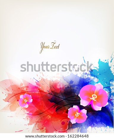 abstract floral artistic