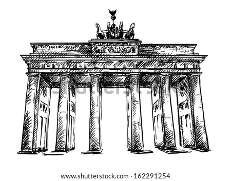 brandenburg gate vector sketch