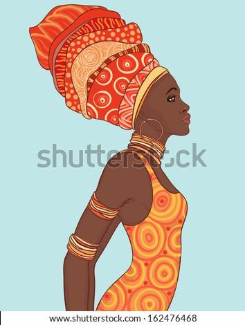 portrait of beautiful african