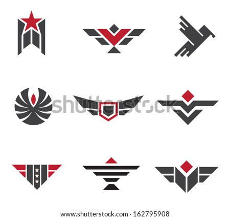 army and military badges and
