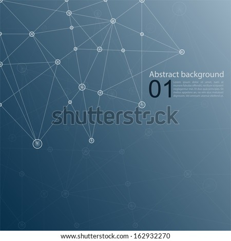 blue abstract  background with