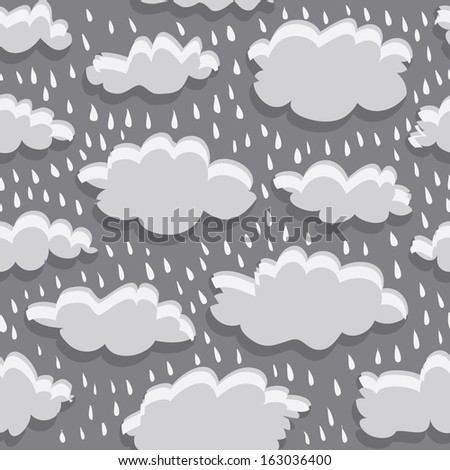 rain clouds vector seamless