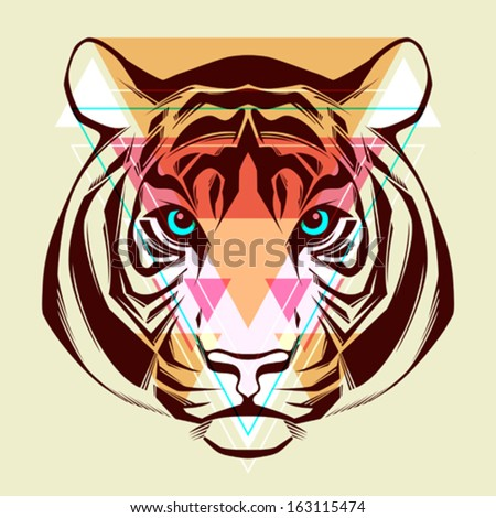 tiger fashion illustration