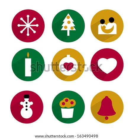 collection of christmas icon