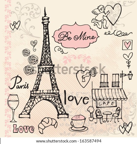 love in paris background