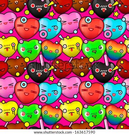 colorful cute cartoon seamless