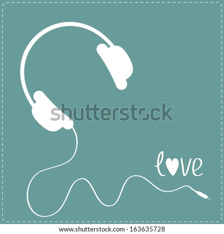 white headphones with cord