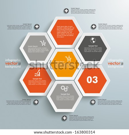 infographic with honeycomb