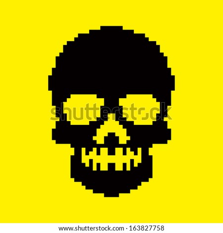 pixel skull background