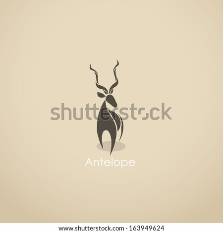 antelope   vector illustration