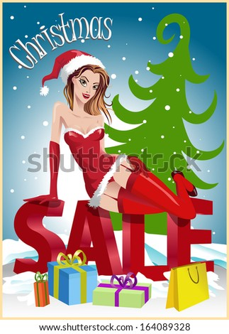 christmas sale background with