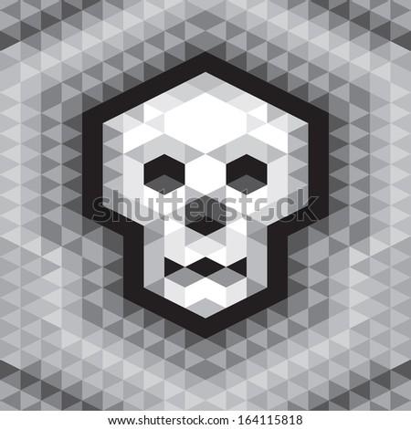 skull seamless geometric