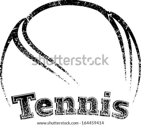 grunge style tennis design