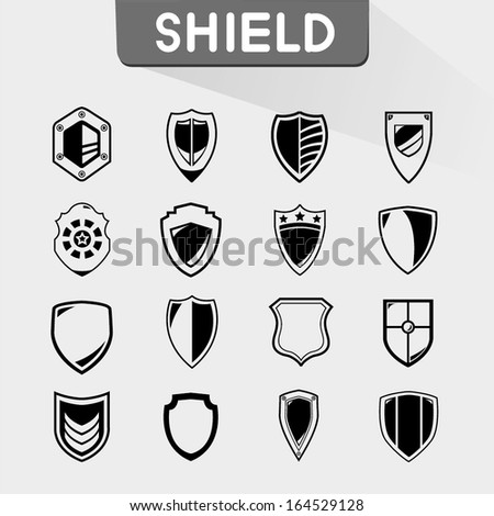 shield icons set