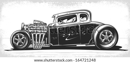 vector hot rod
