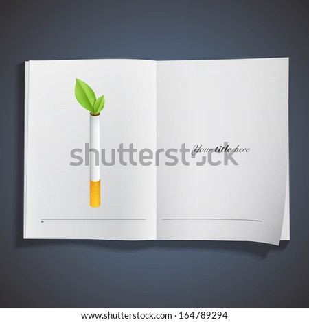 ecologic cigarette printed on