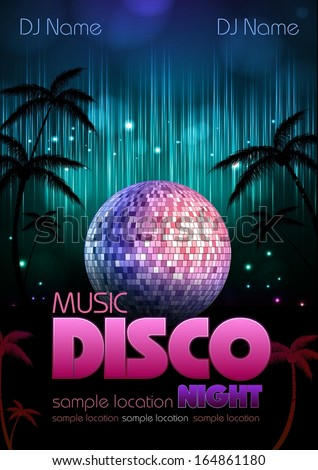 disco background disco poster