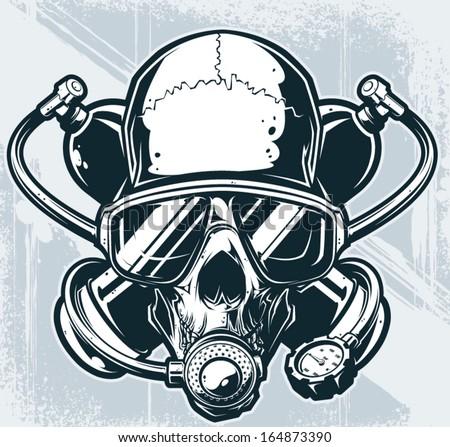 vector diver skull