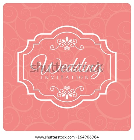 wedding design over pink