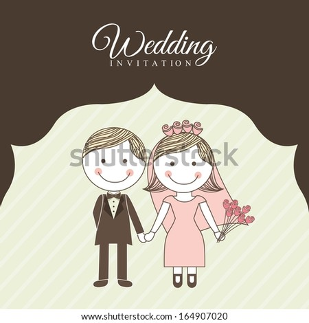 wedding design over brown