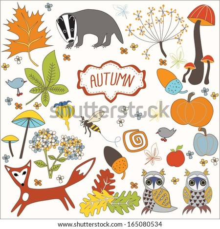 vector autumnal elements of