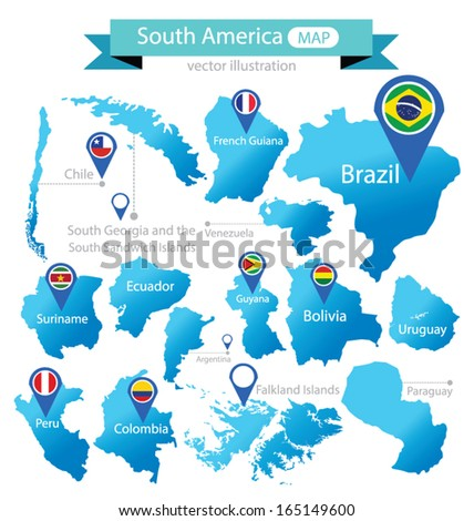 map of south america country