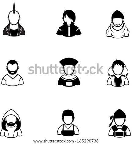 silhouette of people icon
