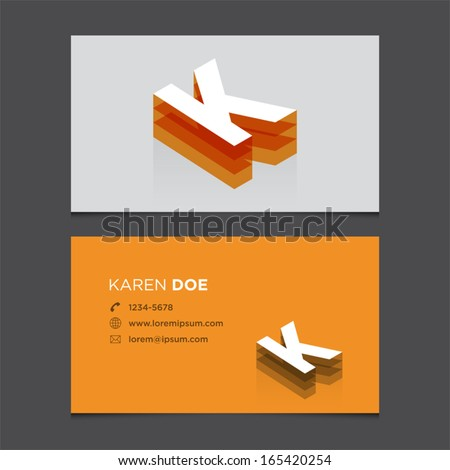 business card template with