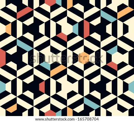 seamless vector geometric strip