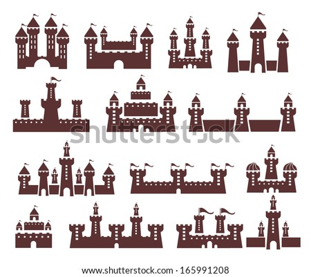 castle vector set