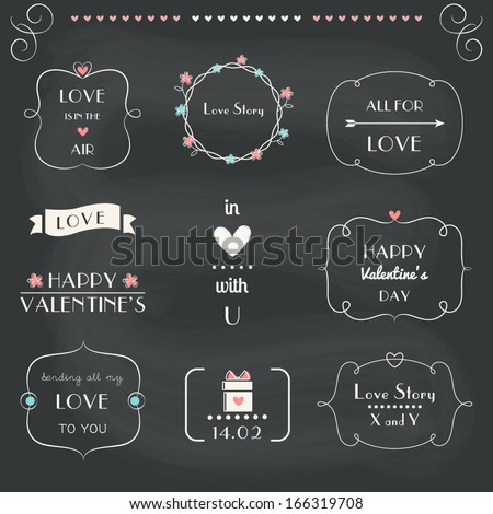 love notes  design elements set
