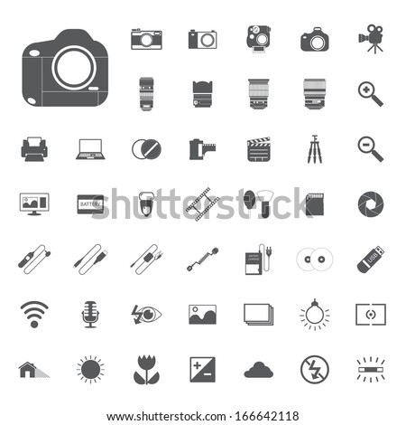 photography camera icons