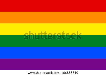 rainbow flag vector accurate
