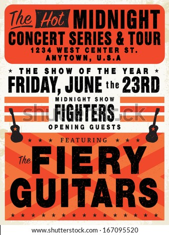 free adobe illustrator concert poster template free vector